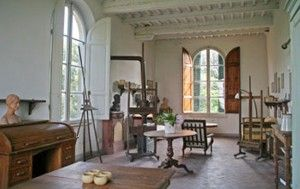 A century later: the Gioli brothers' studio in the villa's tower.