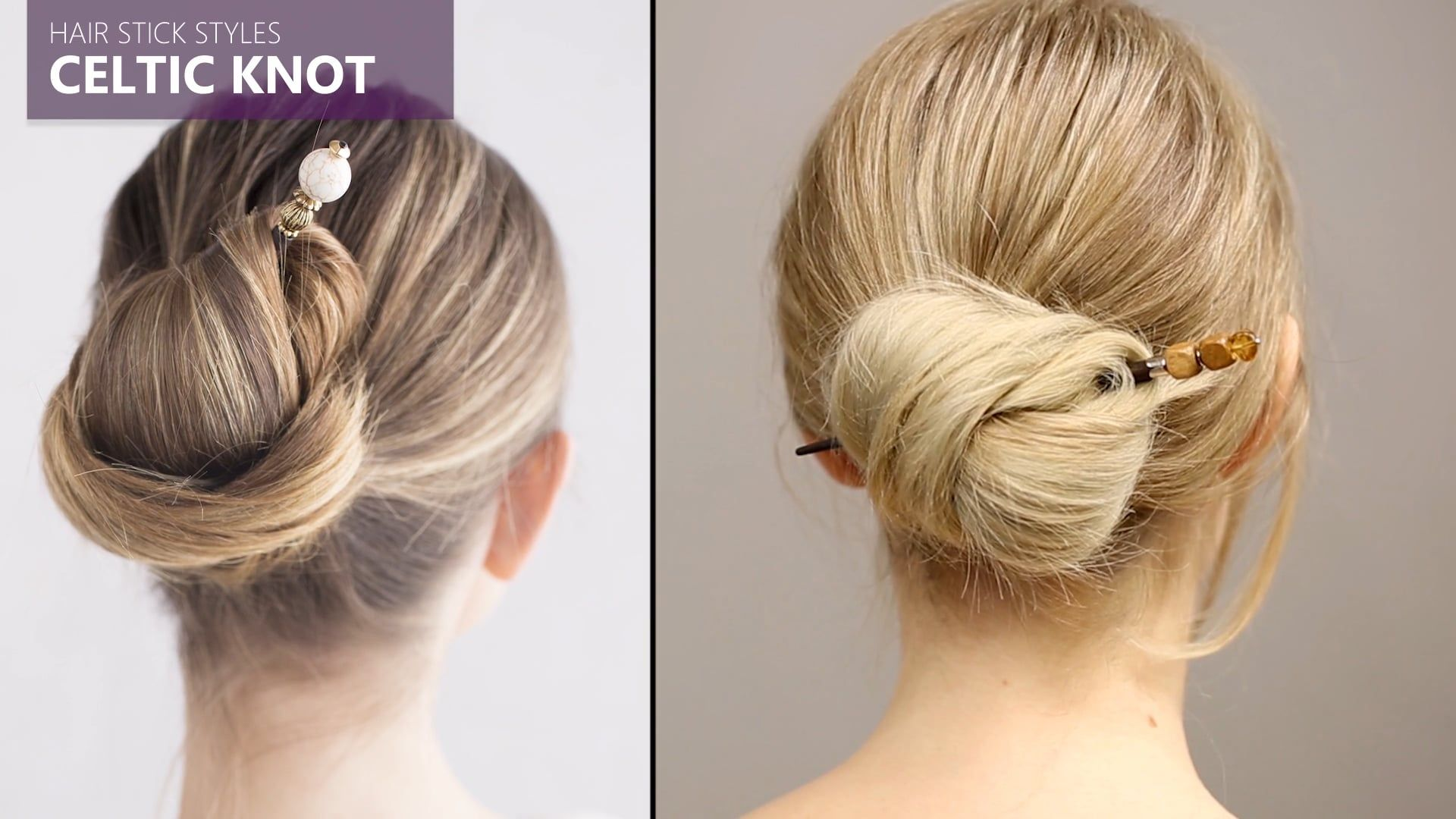 Celtic Knot Bun Hairstyle Video Tutorial Using A Designer Hair Stick From Lilla Rose Hairhowto Easyhairstyles Hairvi Hair Videos Bun Hairstyles Hair Sticks