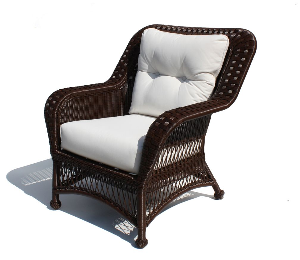 Outdoor Wicker Chair   Princeton Shown In Chocolate Brown