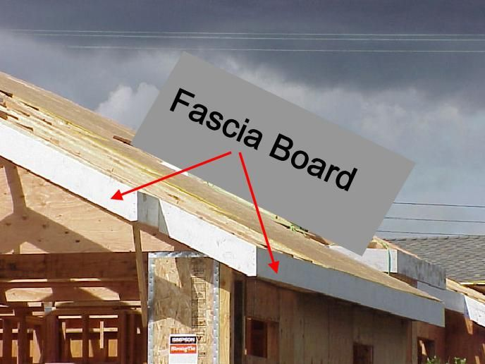 The Fascia Board Or Trim Board Is Installed Around The