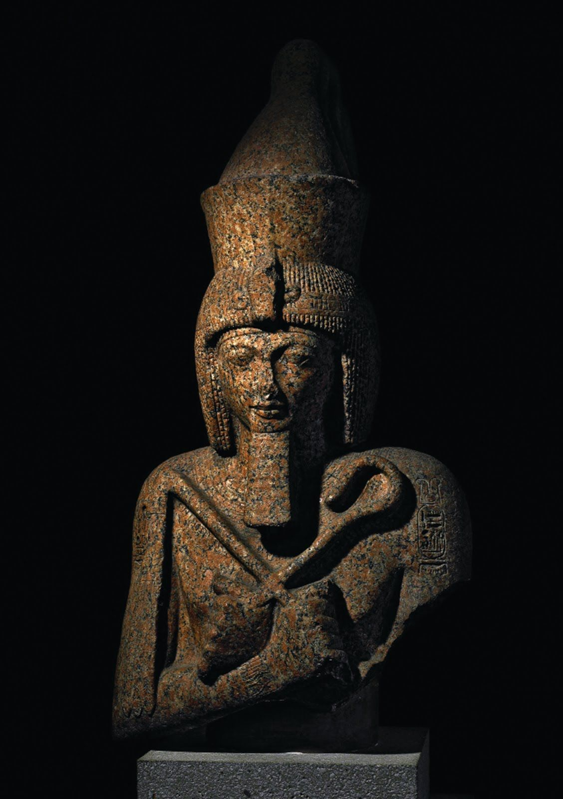 The Ancient Egyptian Granite Statue Of Pharaoh Ramses Ii