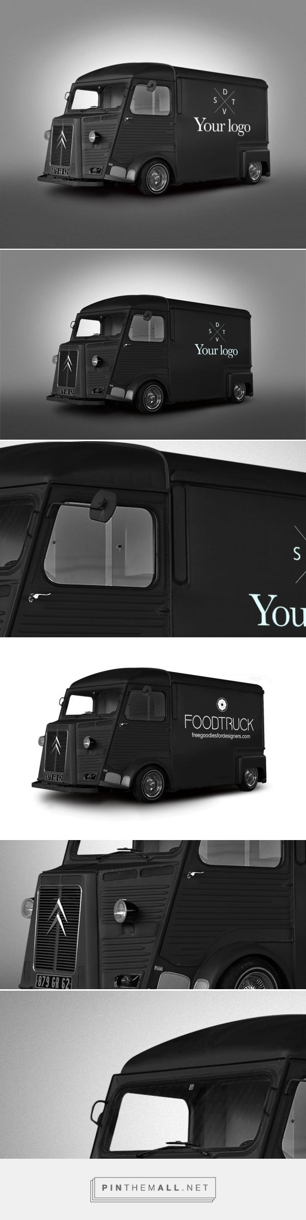 Free Psd Van Food Truck Mockup On Behance Created Via Https Pinthemall Net Mockup Food Truck Free Mockup