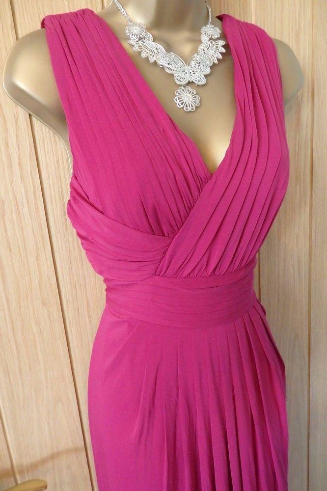 Women S Coast Fuchsia Pink Pleated Maxi Evening Dress Uk 14 Us 10 Coast Maxi Formal Maxi Dress Evening Evening Dresses Uk Fashion Design