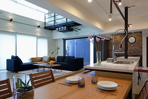 Two-story Penthouse in Taiwan Displaying Contemporary Layout and - diseo de interiores de departamentos
