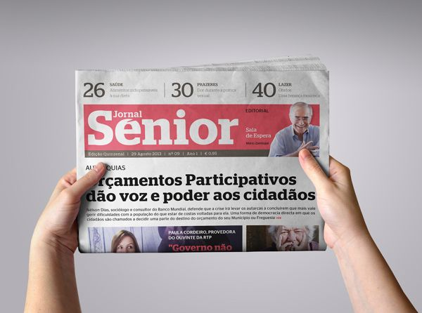 Jornal Senior by Nelson Costa, via Behance