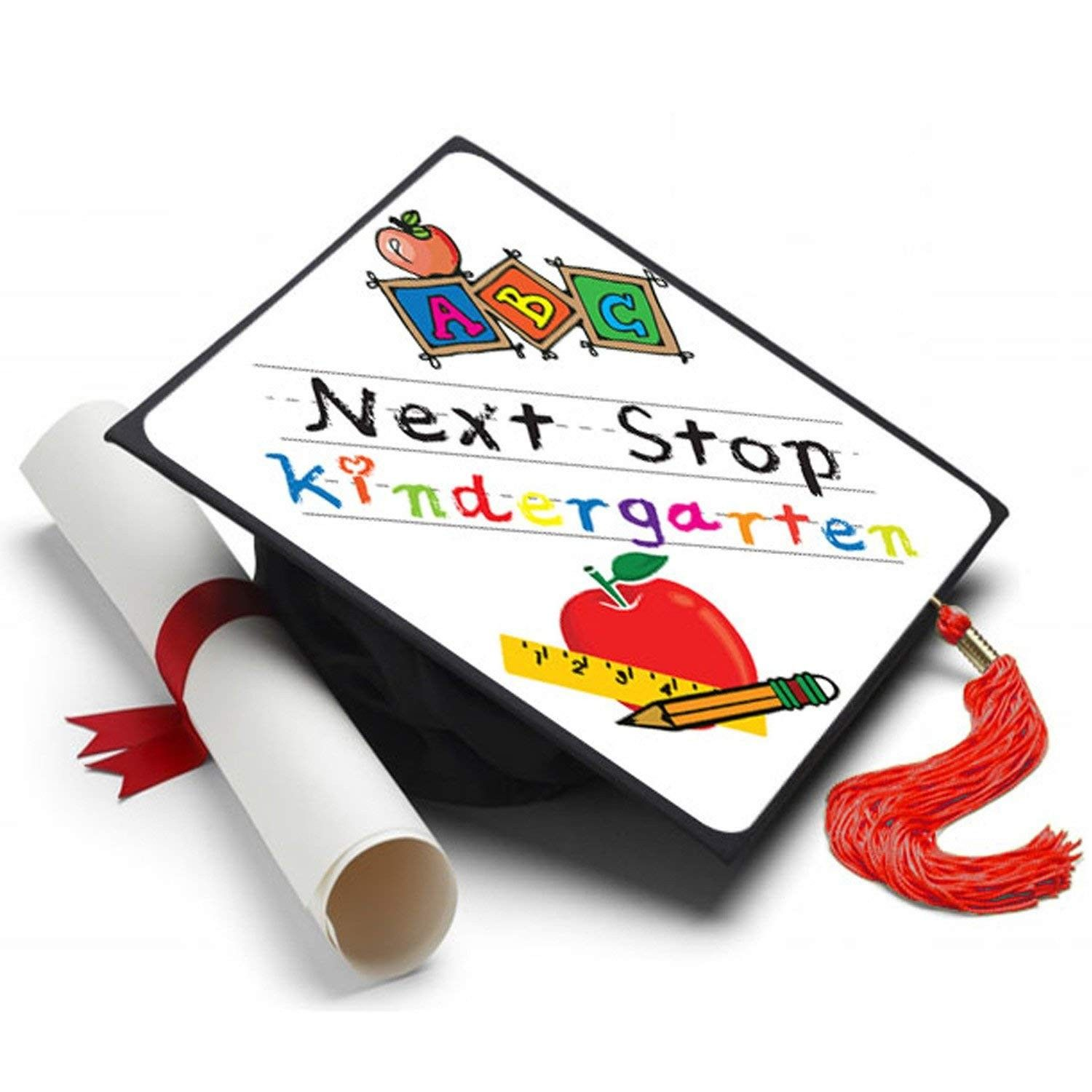Next Stop Kindergaten Grad Cap Decorated Grad Caps