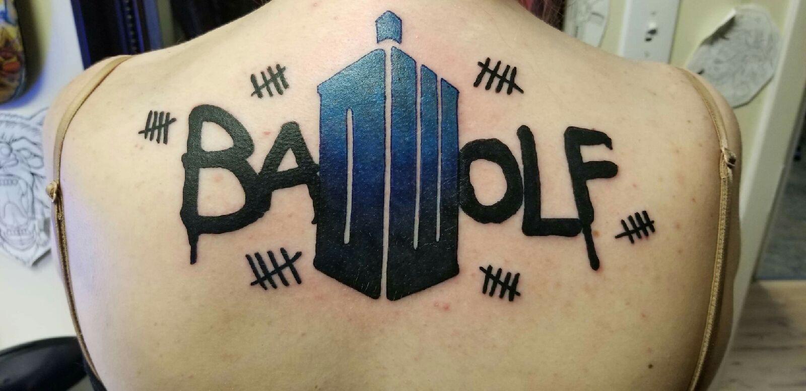 Finally Got My Bad Wolf Tattoohttps Imgur Com M79fvoj Bad Wolf Tattoo Doctor Who Tattoos Tattoos