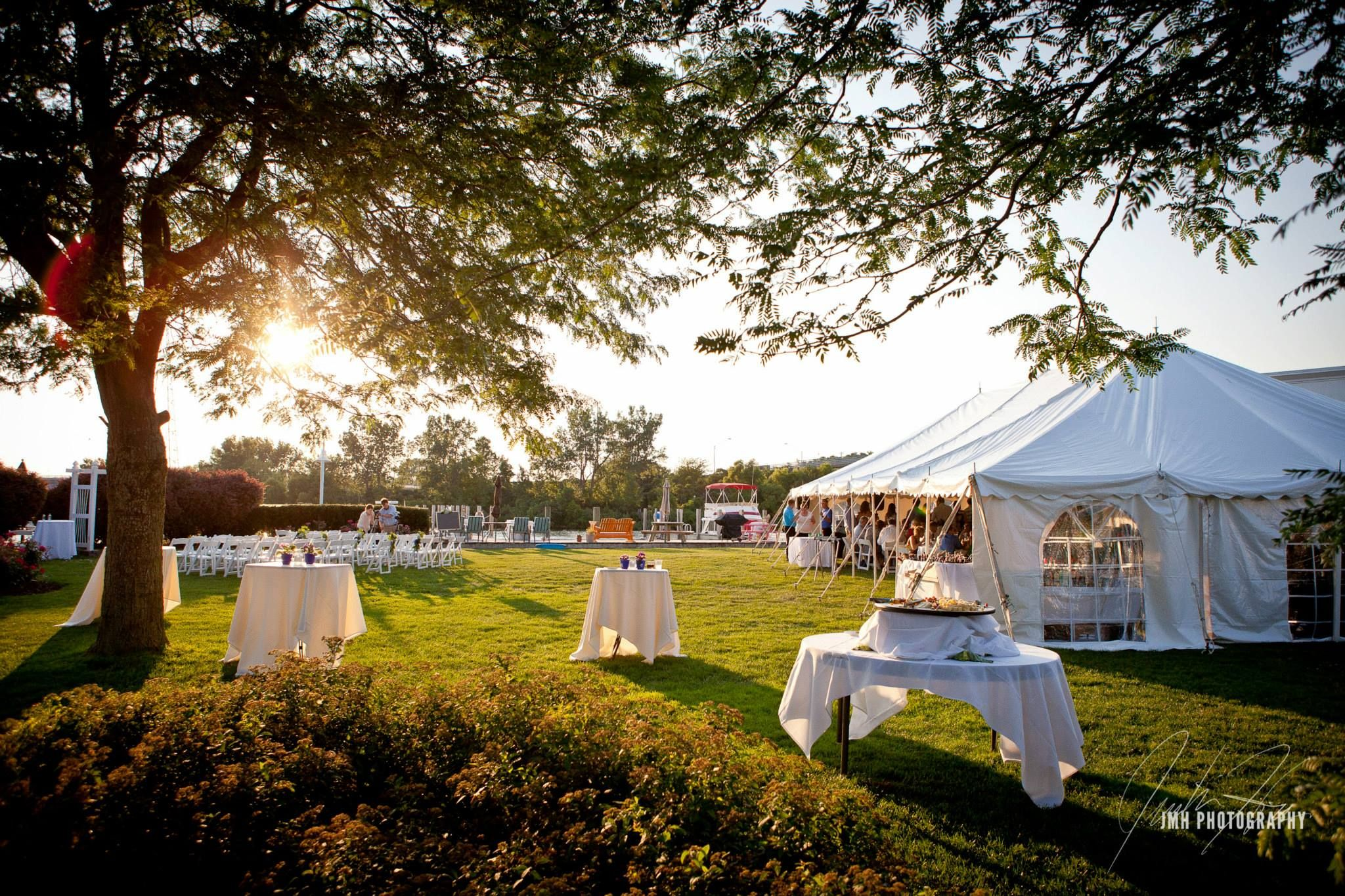 Outdoor Ceremony and Tented Reception on a July
