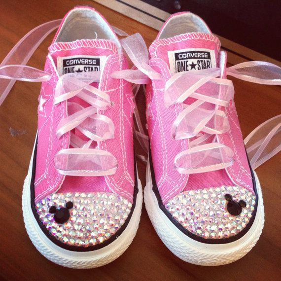 98af6b16026e85 Low Top Bling Converse Minnie Mouse by Munchkenzz on Etsy
