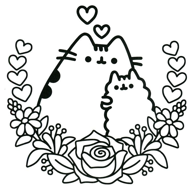 Pusheen Mother S Day Coloring Pages Coloring Pages For Kids