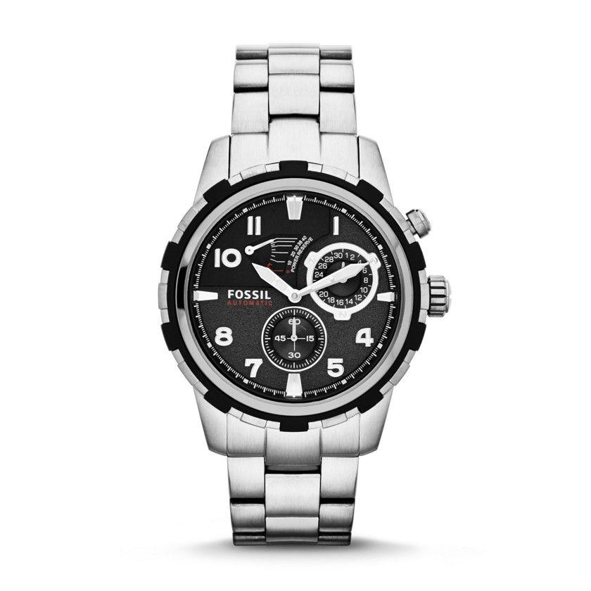 Fossil Dean Roestvrijstalen Automatic Horloge Fossil