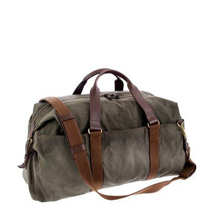 Canvas Travel Bag for Men Who Cottage. JCrew, | It's a Man's World ...