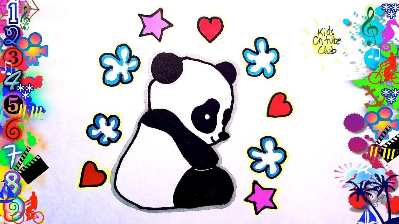 Como Dibujar Un OSO PANDA KAWAII Facil Para Niños