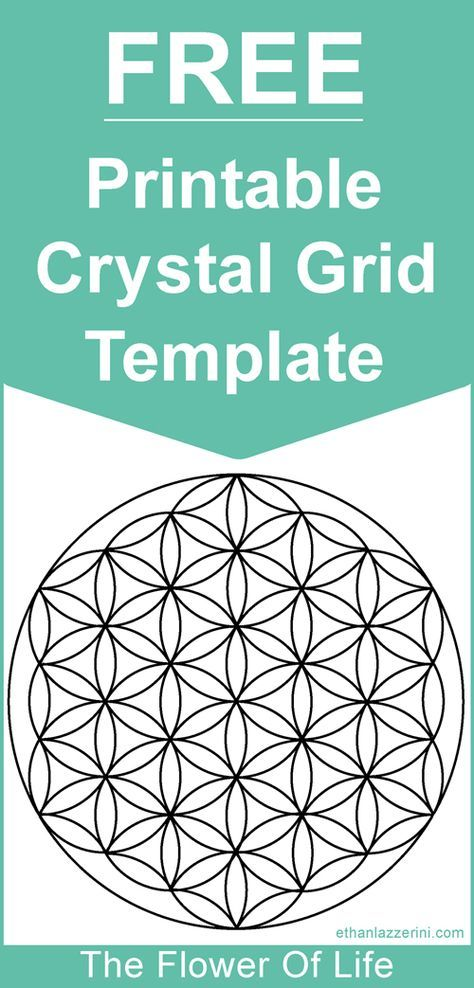 flower of life crystal grid meaning free crystal grid template