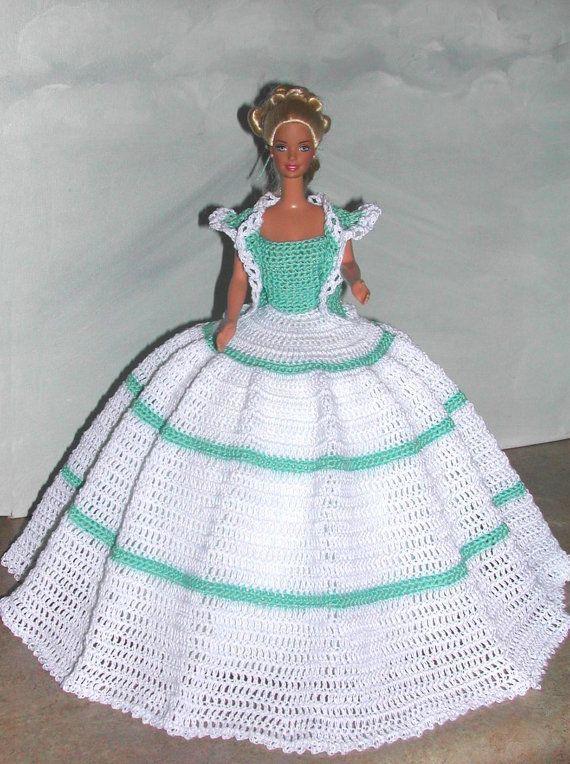 Crochet Fashion Doll Barbie Pattern- #683 DESIGNER ORIGINAL #11 ...