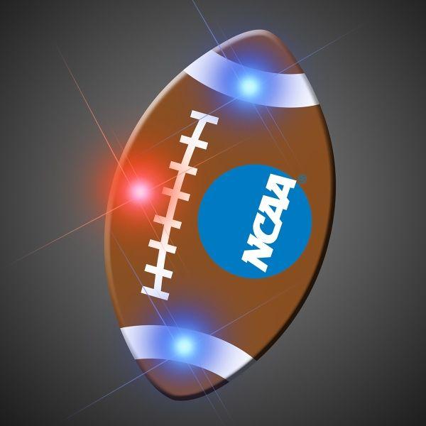 Imprinted Football Pin LED Blinkies | Ball exercises, Led ...