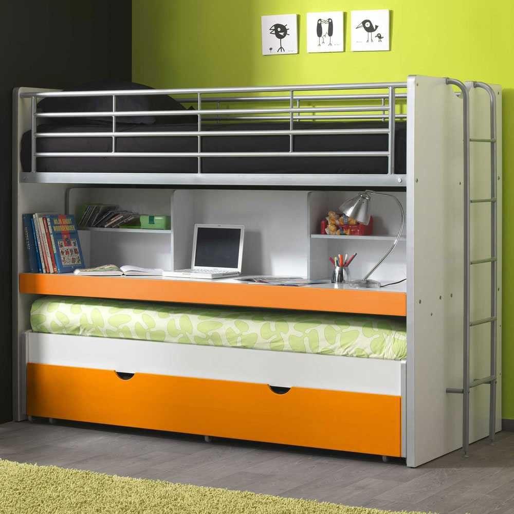 Etagenbett Orange Mit Schreibtisch