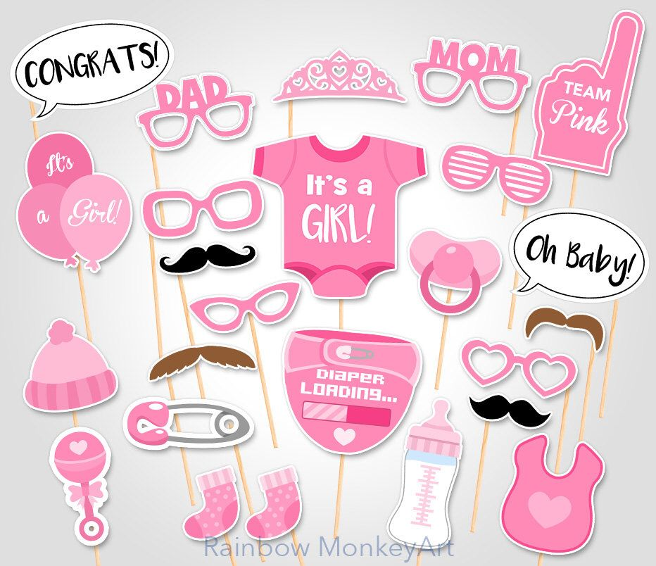 Printable Baby Shower Photo Booth Props Baby Girl Photobooth Etsy Baby Shower Photo Props Baby Shower Photo Booth Props Baby Shower Photo Booth