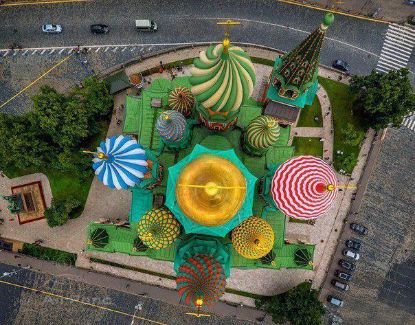 Собор Василия Блаженного на Красной площади в Москве. Вид ...