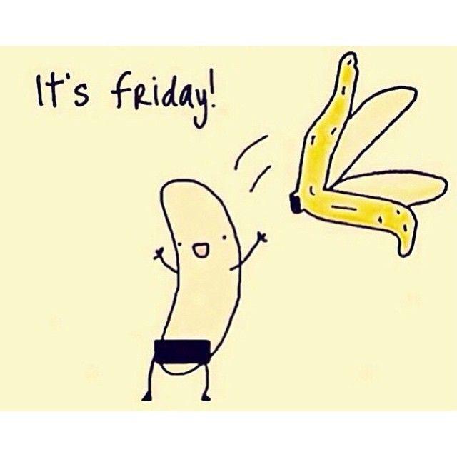 Going BANANAS cause it's FRIDAY!!! #TGIF #Friday #foodpuns ...