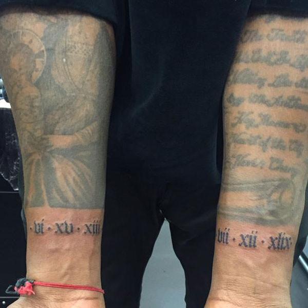 Maxime Buchi Talks Tattooing Kanye West Sang Bleu And His New London Shop Kanye West Tattoo Kanye Tattoo Dad Tattoos