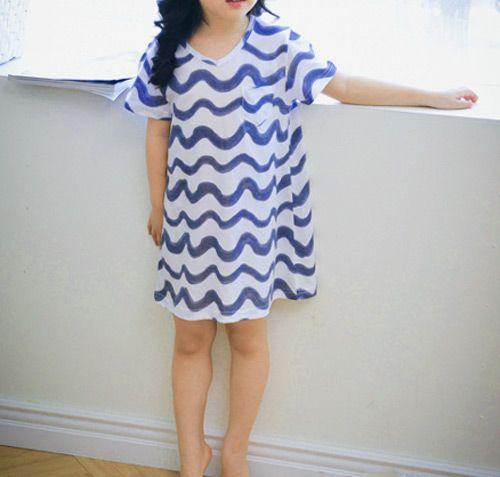 3c81a7fe69801 TinyPokke  s selection BOBO風なみなみワンピース -Tシャツ- 女の子 男の子 海外セレブ