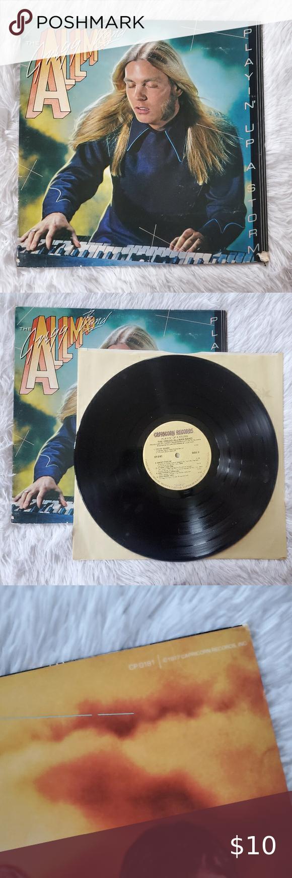 Gregg Allman Band Playin Up A Storm 1977 Vinyl In 2020 Vinyl Greggs Storm