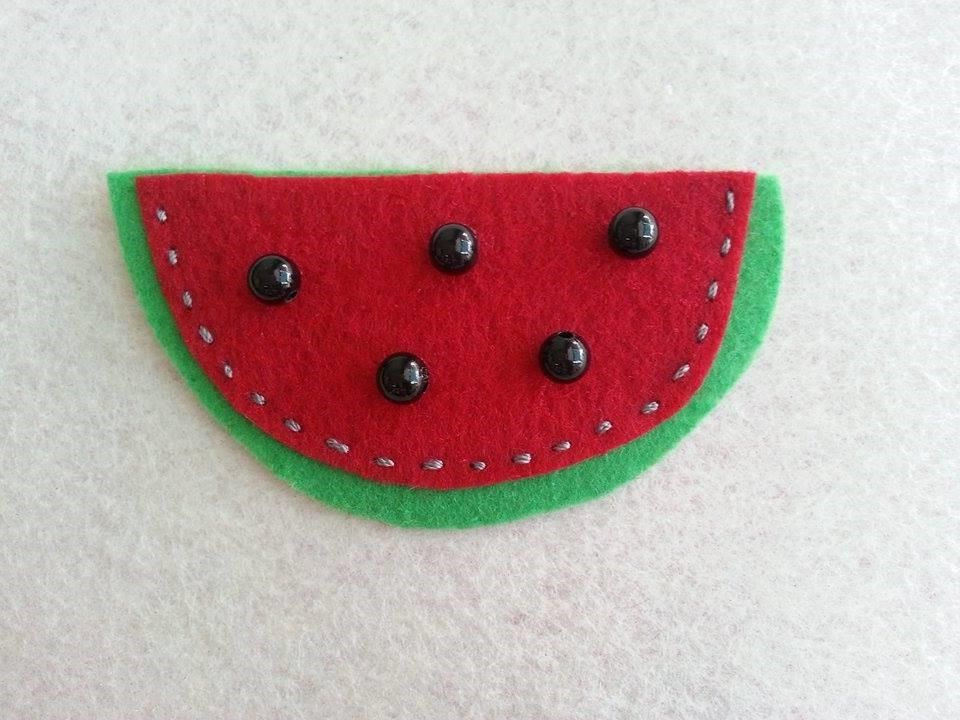 DIY Felt Watermelon Brooch