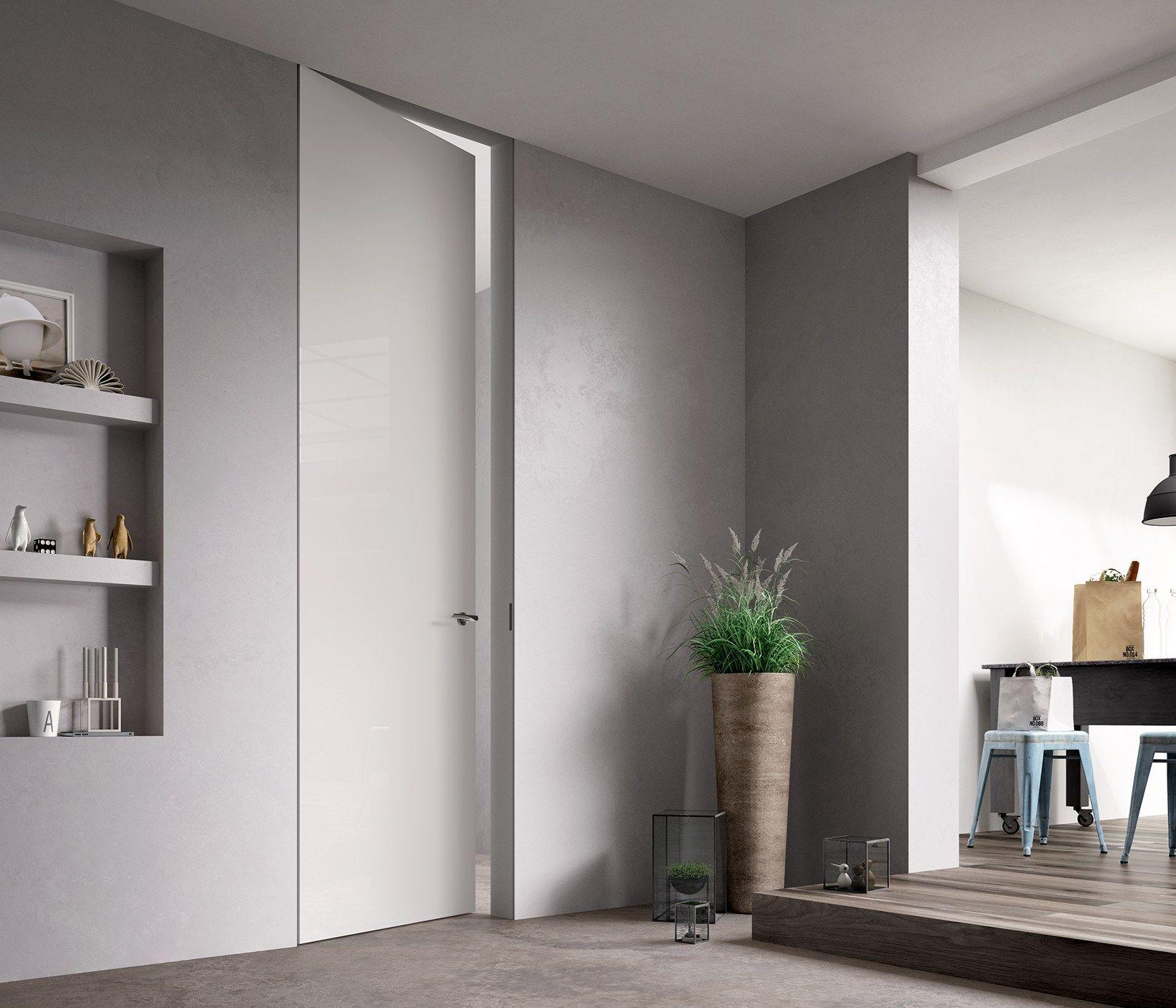 Porta a battente a filo muro EXIT ZERO by FERREROLEGNO | Apriti ...