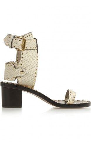 Isabel Marant Jaeryn Studded Snake-Effect Leather Sandals