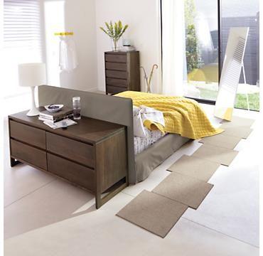 simple headboard bed room divider... good idea for huge ...