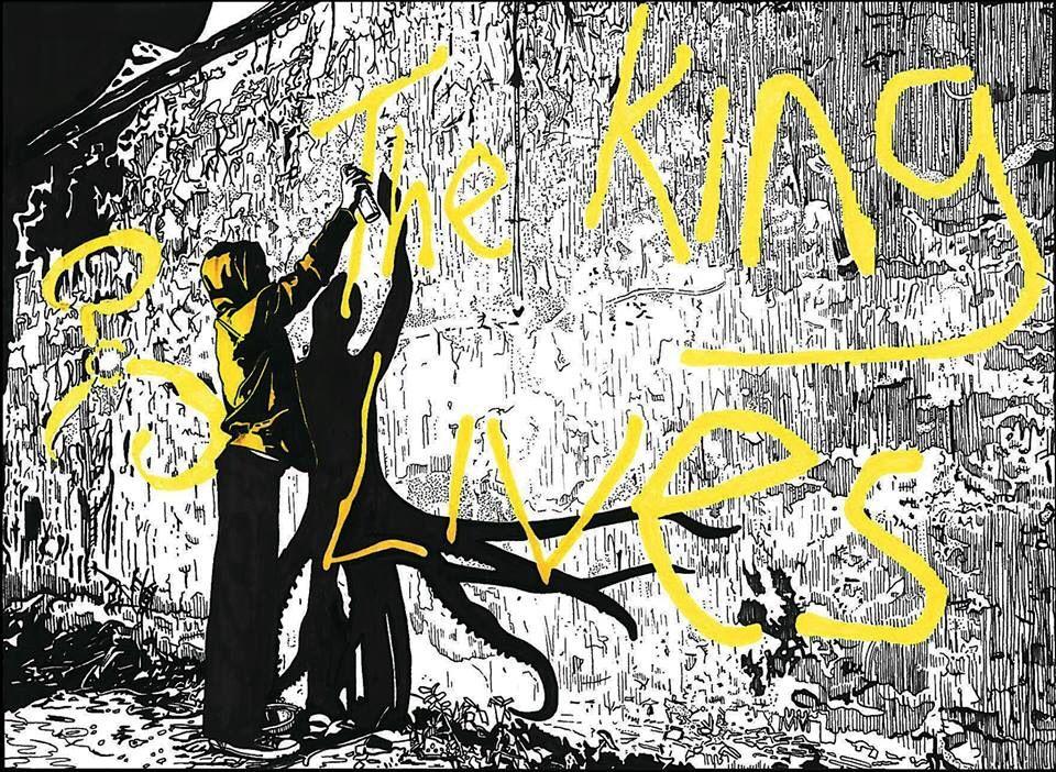 """The King in Yellow"" - Matthew Potts Ink on bristol board."