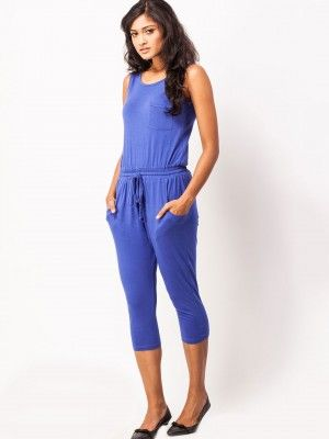 Vvoguish Three Quarter Jumpsuit By Koovs Jumpsuit For Women In