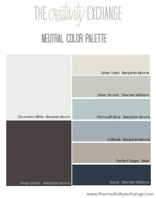 The Most Popular/Pinned Paint Colors on Pinterest {Paint It ... | The Creativity Exchange | Bloglovin