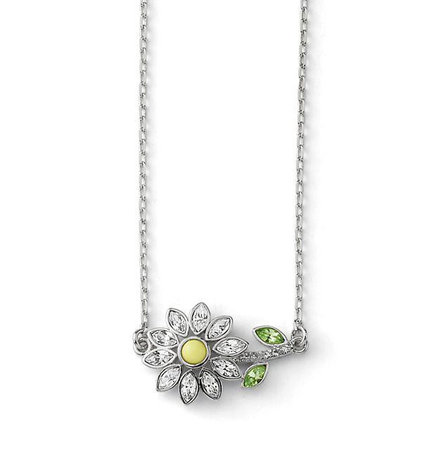 The Lazy Daisy necklace is the perfect way to add the floral trend to your look.