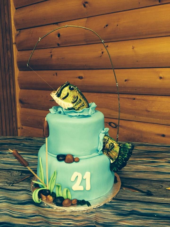 Bass Fish Cake For Brent S 25th Fish Cake Birthday 25th Birthday Cakes 21st Birthday Cakes