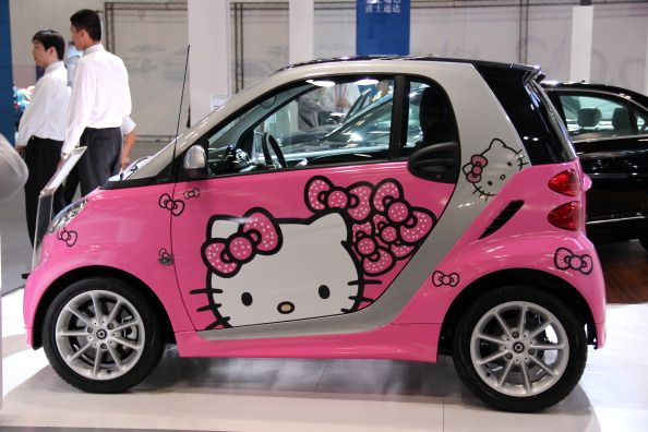 Pink 7 Hello Kitty Smart Car