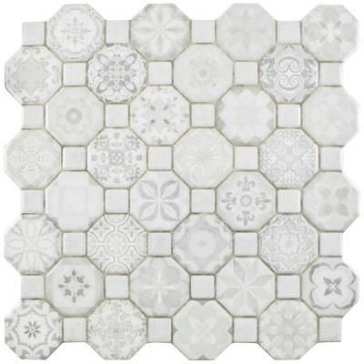 Merola Tile Tessera White 12 1 4 In X 12 1 4 In Ceramic Floor And Wall Tile 14 11 Sq Ft Case Fosteswt Th Floor And Wall Tile Ceramic Floor Wall Tiles