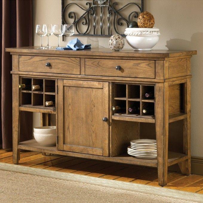 Traditional Sideboard Buffet And Crosley Furniture Newport
