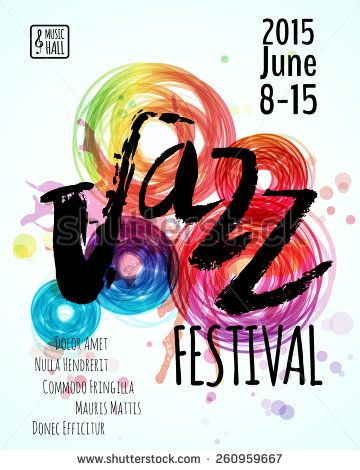 Jazz Blues Music Festival Poster Background Template Hand Drawn