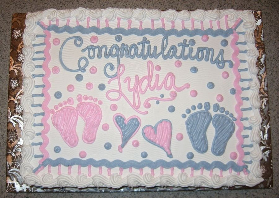 baby shower cake for a soontobe mom of boygirl twins   baby, Baby shower invitation