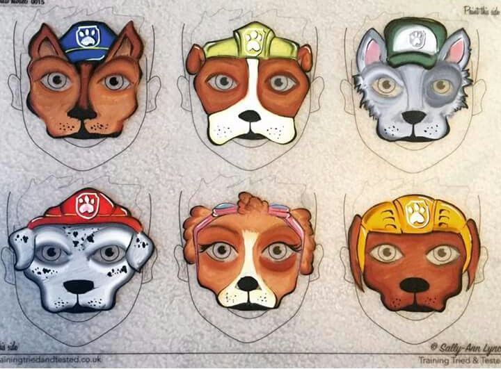 paw patrol face paint face painting pinterest maquillage maquillage enfant et maquillage. Black Bedroom Furniture Sets. Home Design Ideas