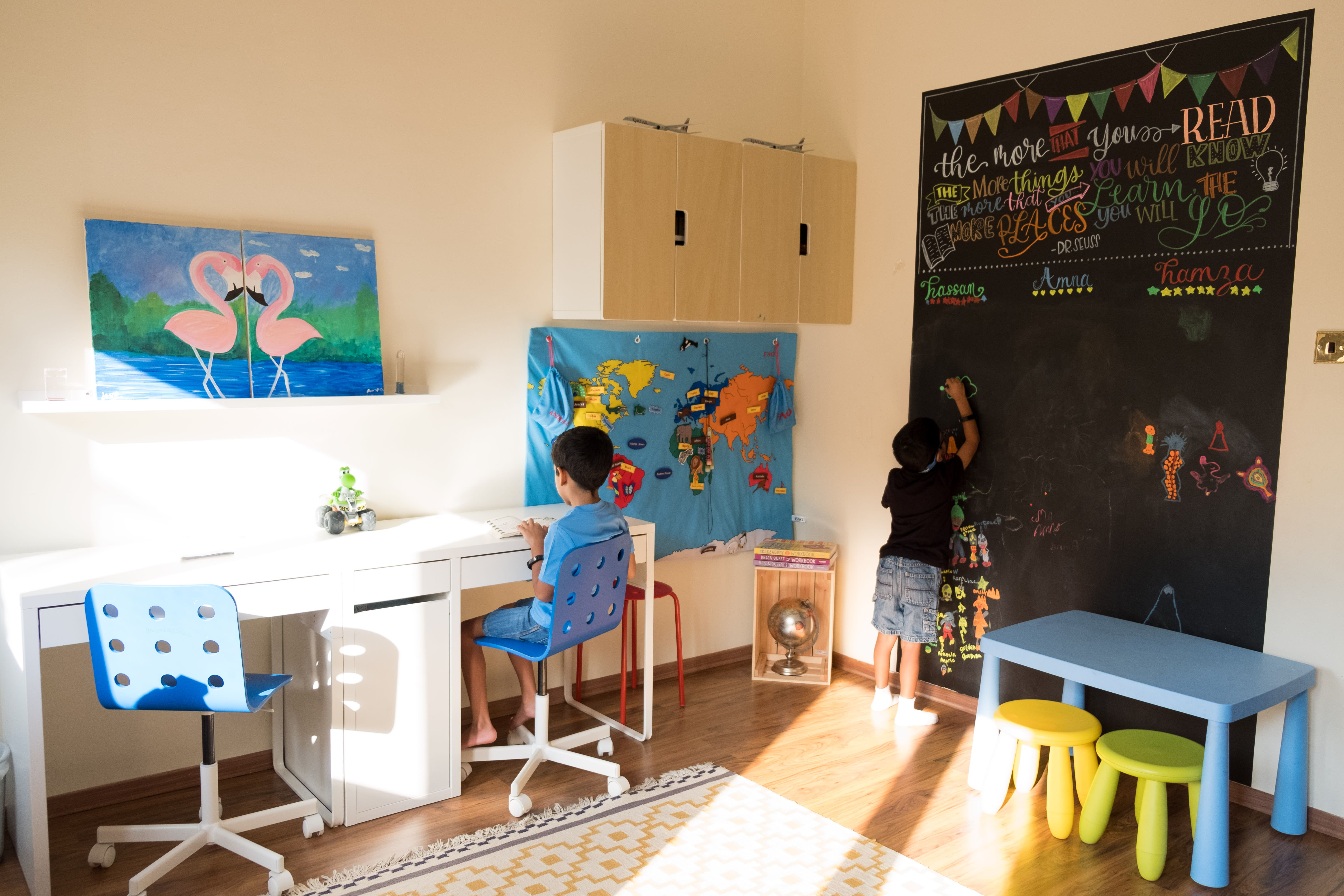 A rental homes made personal with color and culture