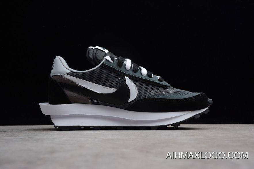 Sacai X Nike LDV Waffle Hybrid Black White Shoes Free