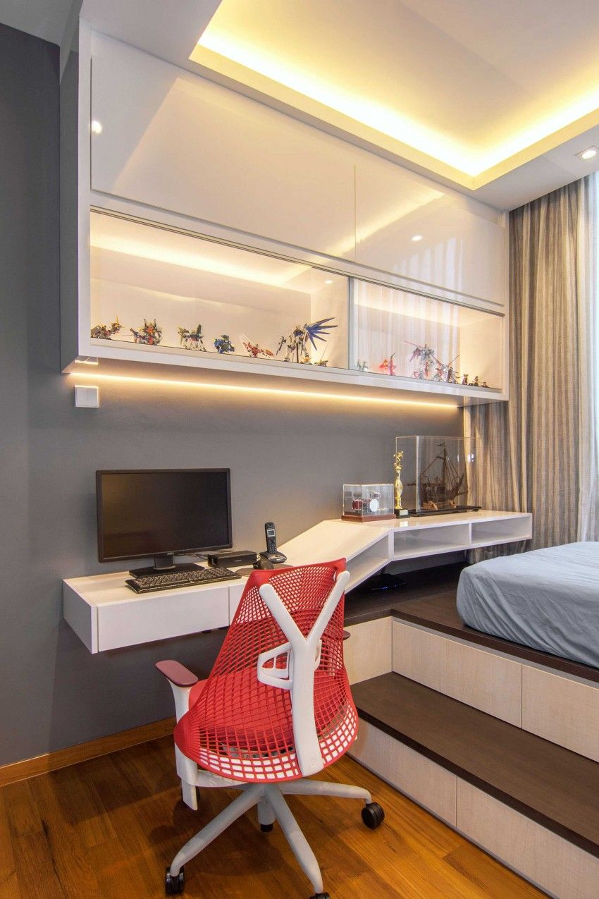 Elegant contemporary apartment in singapore singapore for Bedroom design ideas singapore