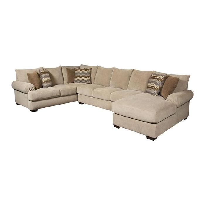 3 Piece Sectional Sofa And Ottoman In Bacarat Taupe Sectional Sofa 3 Piece Sectional Sofa Sectional