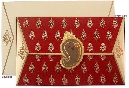 Hindu Wedding Cards Greeting Card Pe Printed