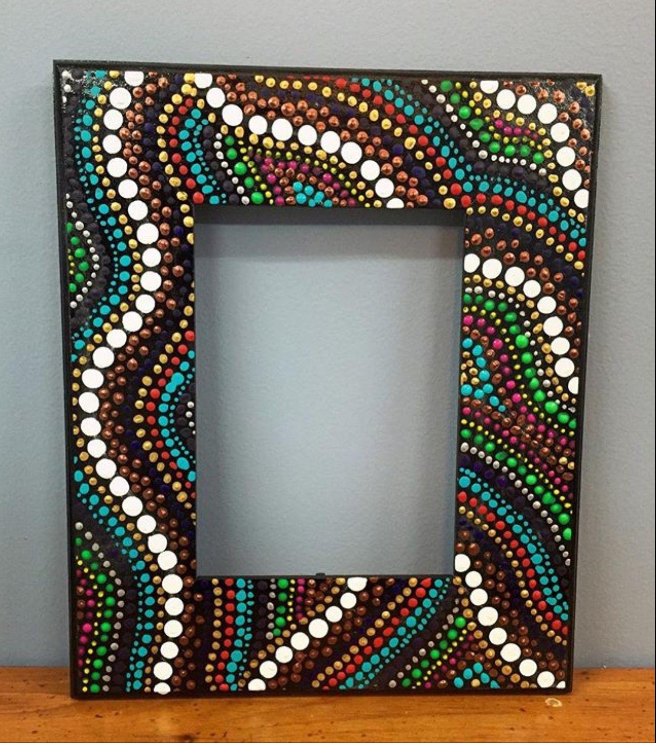 Pin de tamara romero en puntillismo pinterest for Espejos con marco de madera decorados