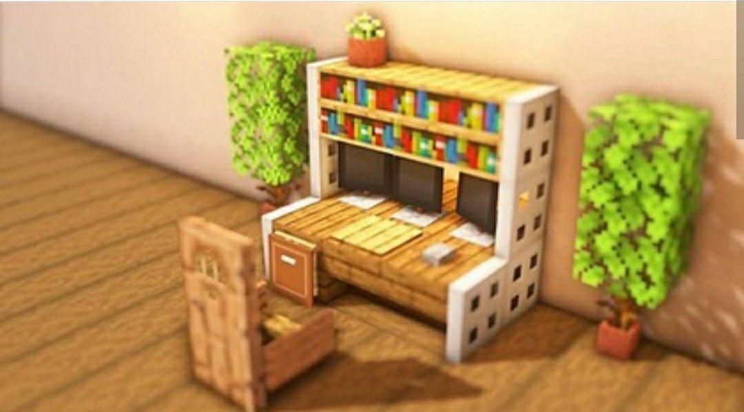 Wooden Gaming setup #Minecraft Minecraft bedroom Geek ...