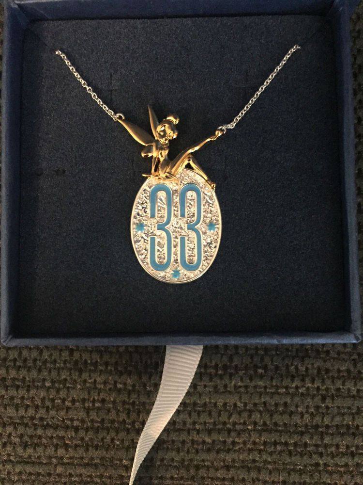 Disneyland Club 33 Stunning Tinkerbell Necklace Free Gift New In